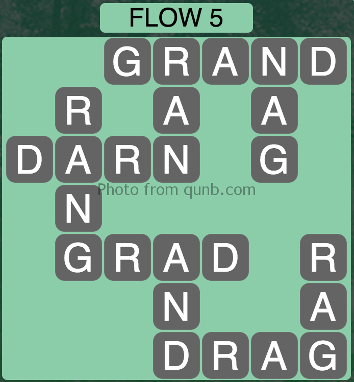 Wordscapes Level 37 (Flow 5) Answer
