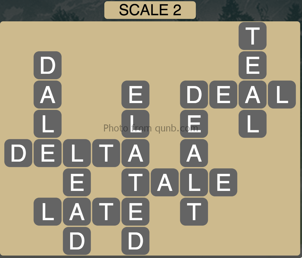 Wordscapes Scale 2 (Level 370) Answers