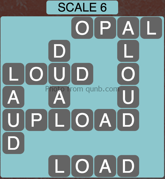 Wordscapes Scale 6 (Level 374) Answers