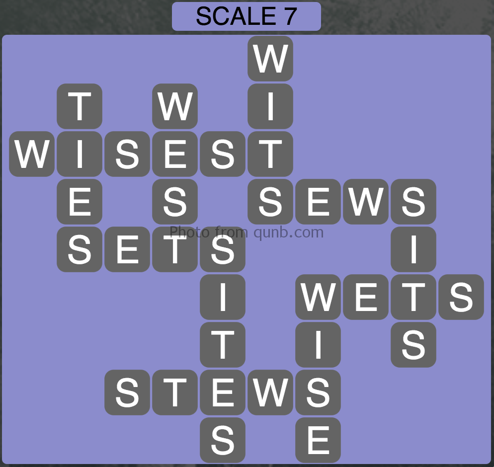 Wordscapes Scale 7 (Level 375) Answers