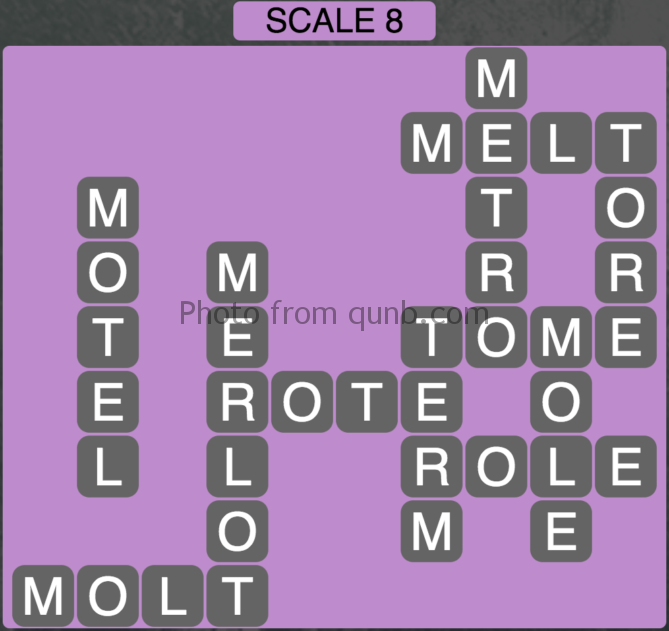 Wordscapes Scale 8 (Level 376) Answers