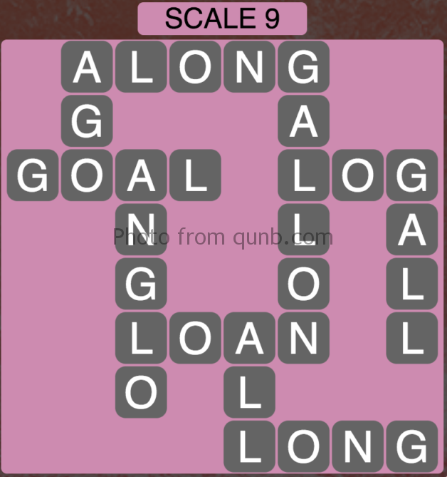Wordscapes Scale 9 (Level 377) Answers
