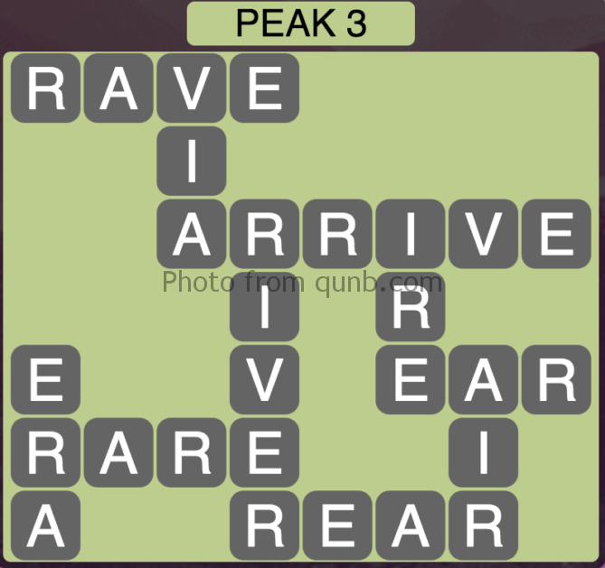 Wordscapes Peak 3 (Level 387) Answers