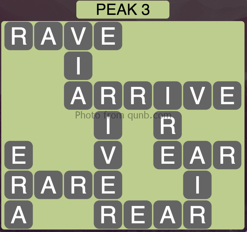 Wordscapes Peak 3 (Level 387) Answers