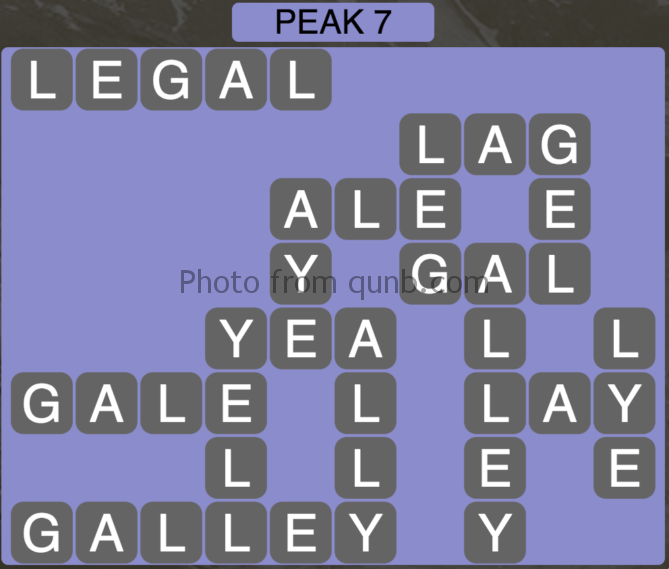 Wordscapes Peak 7 (Level 391) Answers
