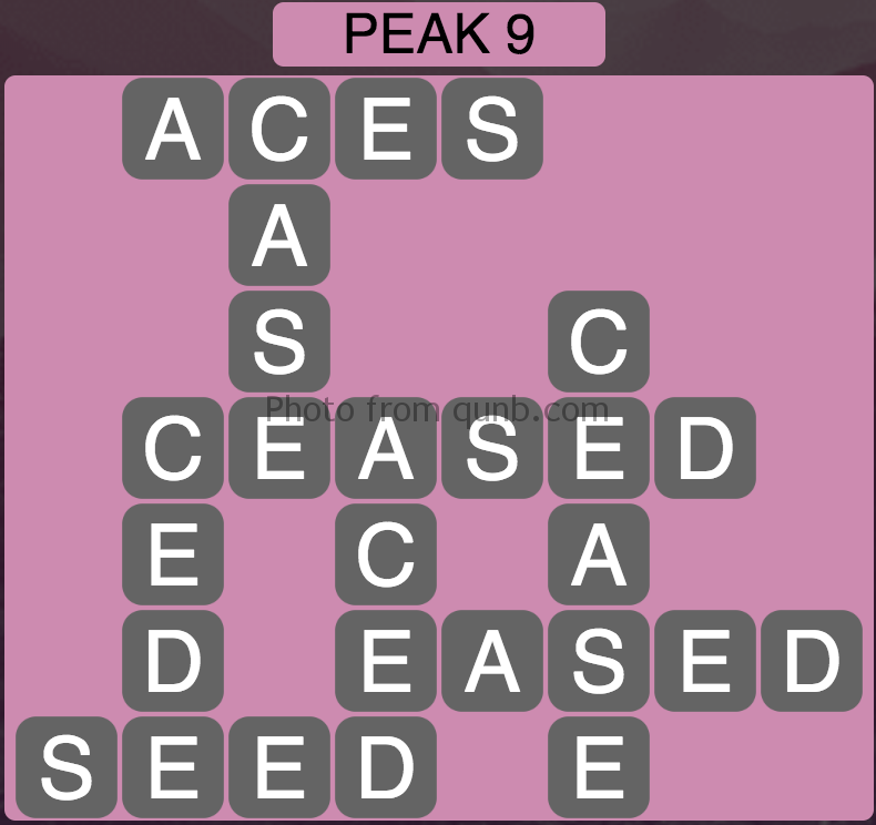 Wordscapes Peak 9 (Level 393) Answers