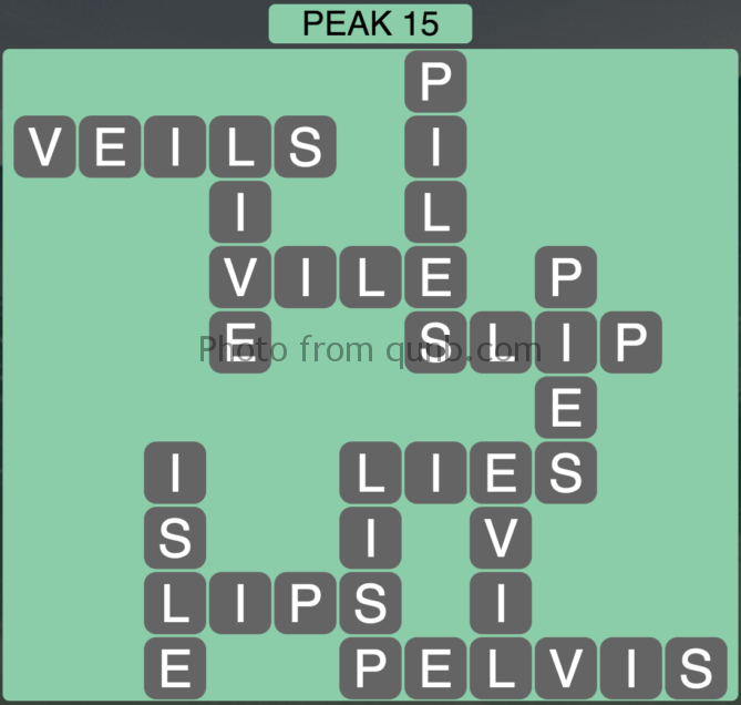 Wordscapes Peak 15 (Level 399) Answers