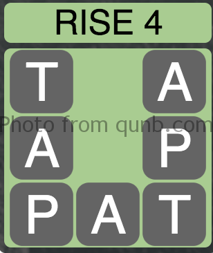 Wordscapes Rise 4 (Level 4) Answer and Cheat