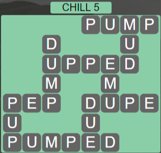 Wordscapes Chill 5 (Level 405) Answers