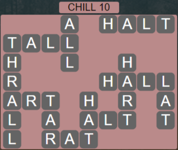 Wordscapes Chill 10 (Level 410) Answers