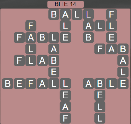Wordscapes Bite 14 (Level 430) Answers