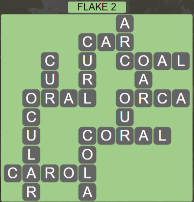 Wordscapes Flake 2 (Level 434) Answers