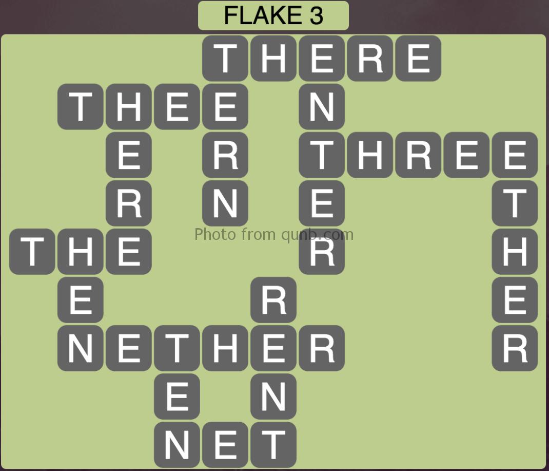 Wordscapes Flake 3 (Level 435) Answers » Qunb