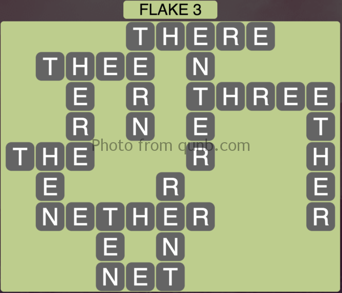 Wordscapes Flake 3 (Level 435) Answers