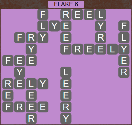 Wordscapes Flake 6 (Level 438) Answers
