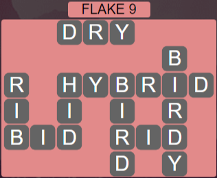 Wordscapes Flake 9 (Level 441) Answers