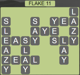 Wordscapes Flake 11 (Level 443) Answers