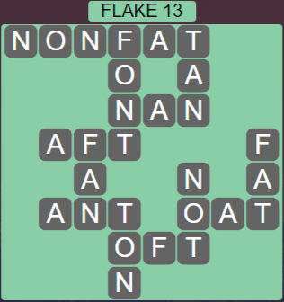 Wordscapes Flake 13 (Level 445) Answers