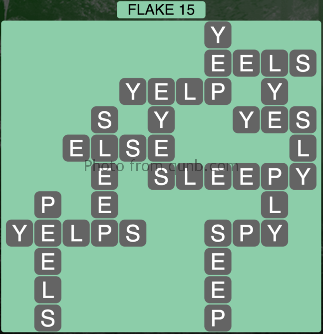 Wordscapes Flake 15 (Level 447) Answers
