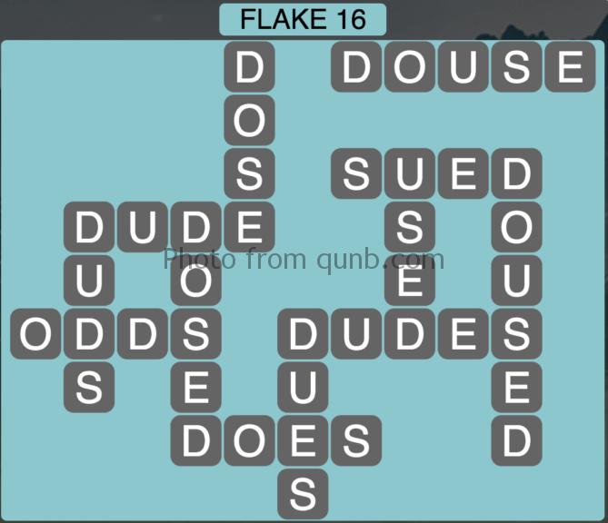 Wordscapes Flake 16 (Level 448) Answers