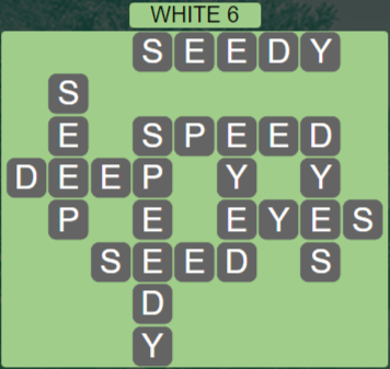 Wordscapes White 6 (Level 454) Answers