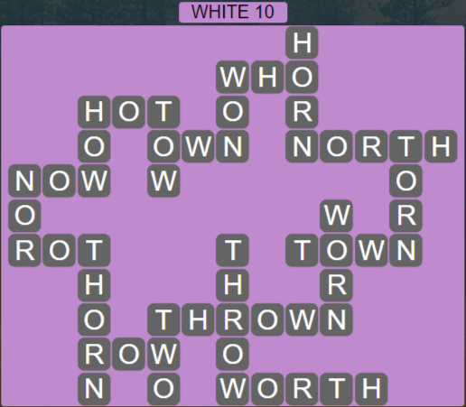 Wordscapes White 10 (Level 458) Answers