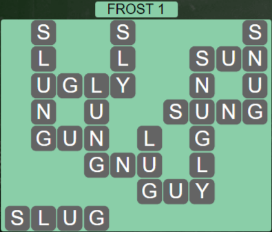 Wordscapes Frost 1 (Level 465) Answers