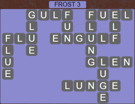 Wordscapes Frost 3 (Level 467) Answers