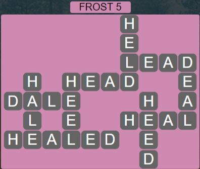 Wordscapes Frost 5 (Level 469) Answers