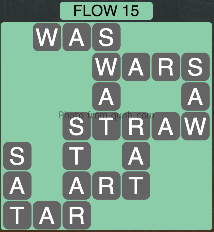 Wordscapes Level 47 (Flow 15) Answer