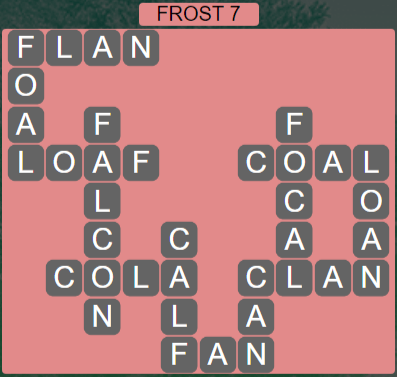 Wordscapes Frost 7 (Level 471) Answers