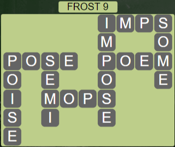 Wordscapes Frost 9 (Level 473) Answers