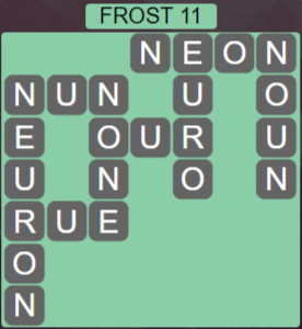 Wordscapes Frost 11 (Level 475) Answers
