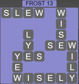 Wordscapes Frost 13 (Level 477) Answers