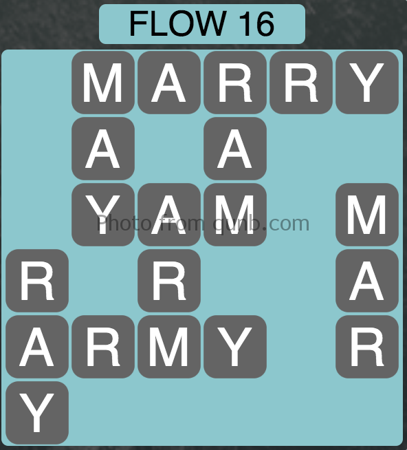 Wordscapes Level 48 (Flow 16) Answer