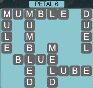 Wordscapes Petal 6 (Level 486) Answers