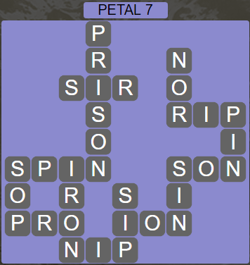 Wordscapes Petal 7 (Level 487) Answers