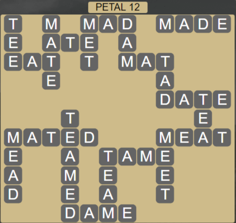 Wordscapes Petal 12 (Level 492) Answers