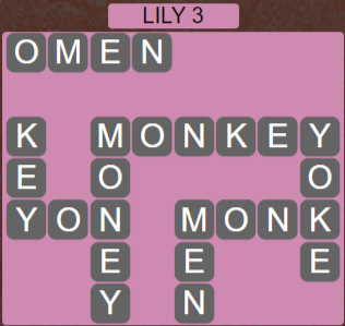 Wordscapes Lily 3 (Level 499) Answers