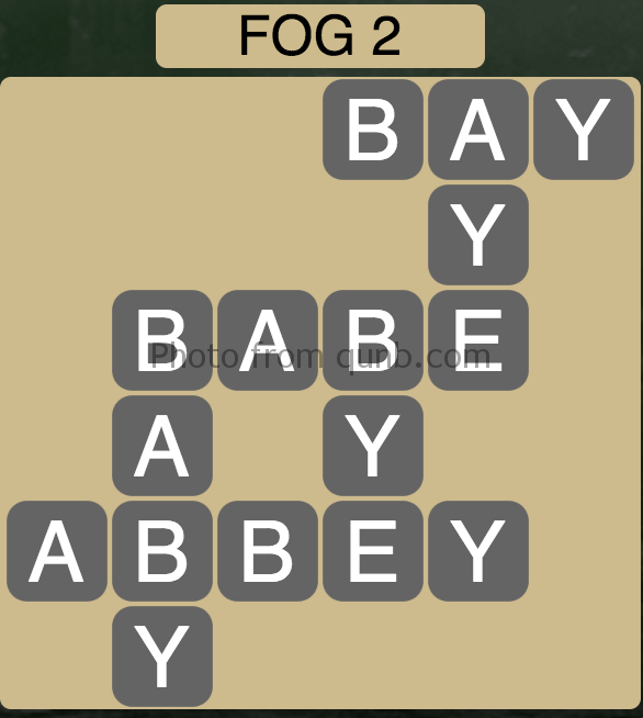 Wordscapes Level 50 (Fog 2) Answer
