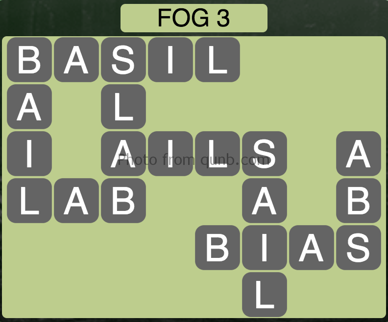 Wordscapes Level 51 (Fog 3) Answer
