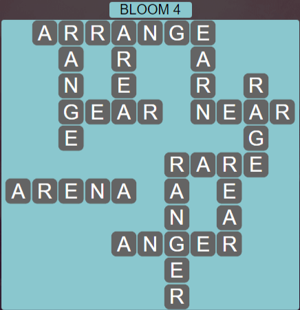 Wordscapes Bloom 4 (Level 516) Answers