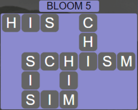 Wordscapes Bloom 5 (Level 517) Answers