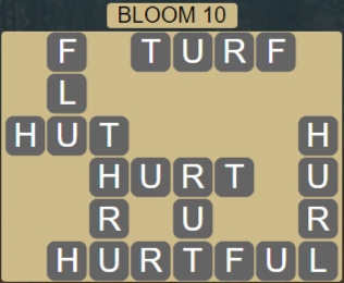 Wordscapes Bloom 10 (Level 522) Answers