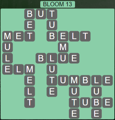 Wordscapes Bloom 13 (Level 525) Answers