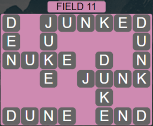 Wordscapes Field 11 (Level 539) Answers
