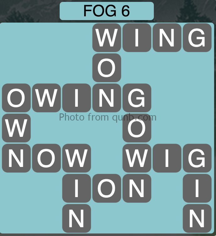 Wordscapes Level 54 (Fog 6) Answer