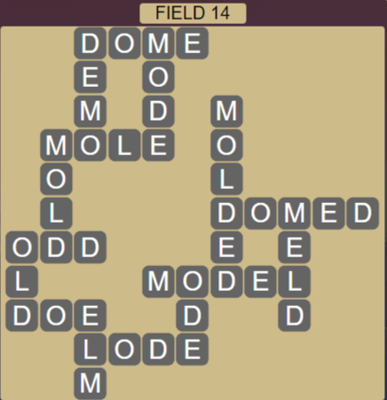 Wordscapes Field 14 (Level 542) Answers