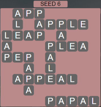 Wordscapes Seed 6 (Level 550) Answers