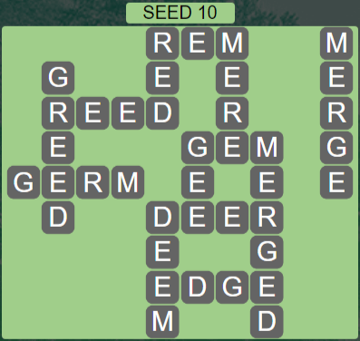 Wordscapes Seed 10 (Level 554) Answers
